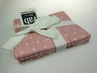 Набор тканей из серии Shabby Chic, розовый