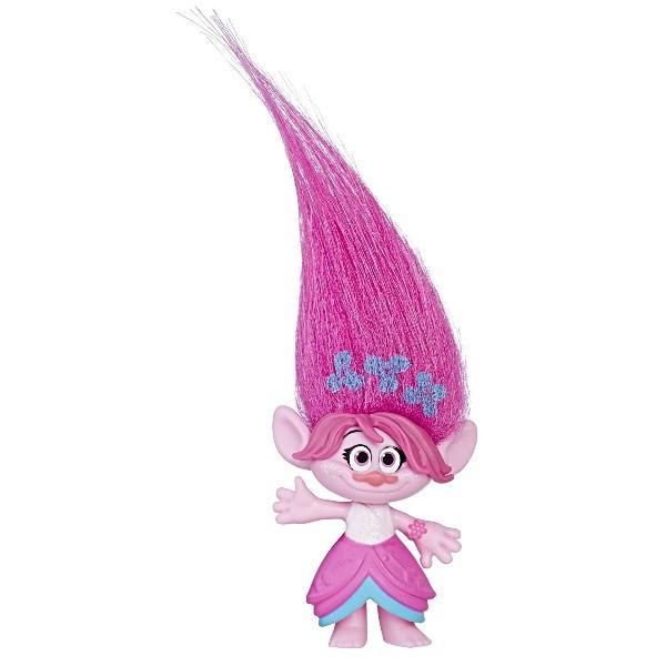 Dreamworks Коллекционная фигурка Тролль Поппи с принтом на волосах Trolls Poppy Hair Collectible Figure with