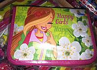 Пенал книжка JosefОtten 2 отворота Happy girl, фото 1