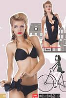 Купальник трансформер женский слитный, сдельный бикини, раздельный, монокини Marina 139 черный