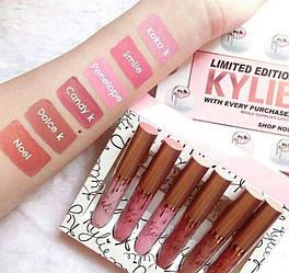Набор жидких матовых помад Kylie Limited Edition 6 штук