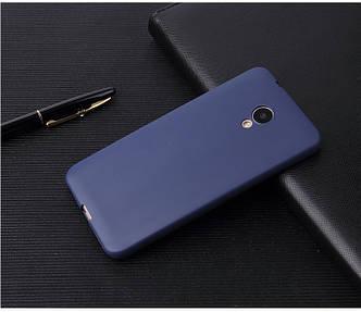 Чехол Style для Meizu M5 Бампер силиконовый синий