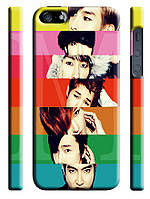 Чехол для iPhone 4/4s/5/5s/5с super junior радуга