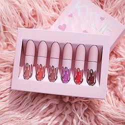Набор жидких матовых помад Kylie Jenner Matte Liquid Lipstick 6 штук