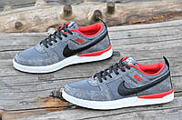 Мужские кросовки Nike реплика сетка сквозная серые легкие и удобные (Код: 1159а) Только 40р!