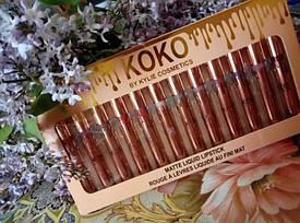 Набор жидких матовых помад KOKO by Kylie 12 штук