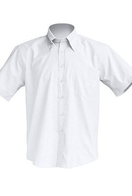 Мужская рубашка белого цвета с коротким рукавом, JHK T-shirt , Испания, однотонная, от S до XXL