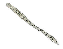 Силикон Nomura Glitter Rib Worm (съедобный) 120мм 3,5гр. цвет-003 (black dots back) 6шт