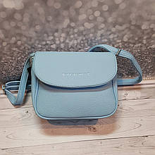 Голубая сумочка crossbody