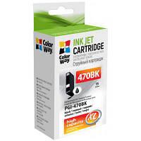 Картридж ColorWay Canon PGI-470 Black PIXMA MG5740/MG6840 (CW-PGI-470Bk)