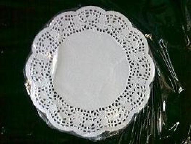 Салфетка ажурная бумажная круглая 14см (100шт)