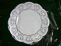 Салфетка ажурная бумажная круглая 14см (100шт), фото 1
