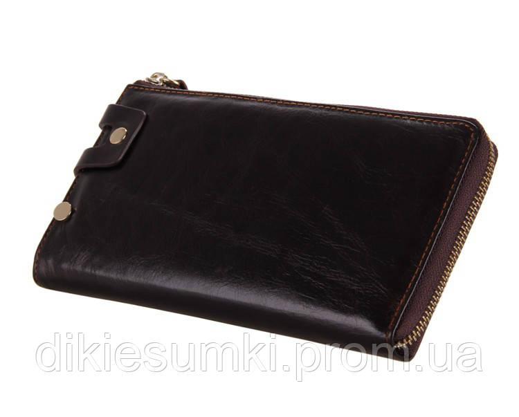 000191b2381f Мужской клатч портмоне мужской кожаный TIDING BAG 8036С кофейного цвета