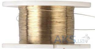 Ya Xun Металлическая струна для отклеивания дисплейного модуля 100 метров (золотистая 0,1mm)