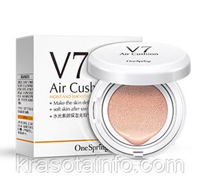 Воздушный бб крем кушон V7с гиалуроновой кислотой BB Cream Air Cushion, тон № 3