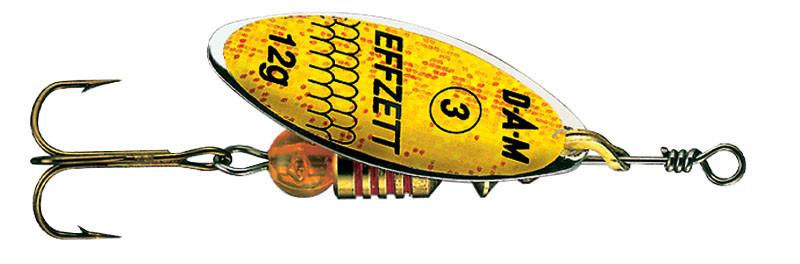 Блесна-вертушка DAM Effzett Predator 12гр (yellow/glitter)