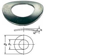 Шайба пружинная изогнутая DIN 137 A нержавеющая А2