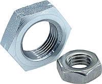 Гайка шестигранная низкая DIN 439, DIN 936 нержавеющая А2, А4