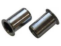 Заклепка-гайка резьбовая цилиндрическая со стандартным фланцем без насечки нержавеющая