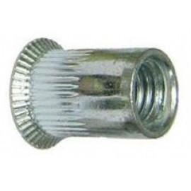 Заклепка-гайка резьбовая цилиндрическая с насечкой с потайным фланцем  нержавеющая