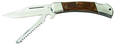 Нож раскладной Balzer с деревянной ручкой +пила 22см.