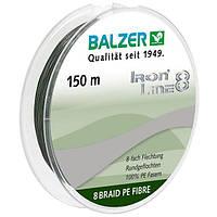 Шнур Balzer Iron Line 8x Green 150м 0.08мм  7,2кг (темно-зеленый)