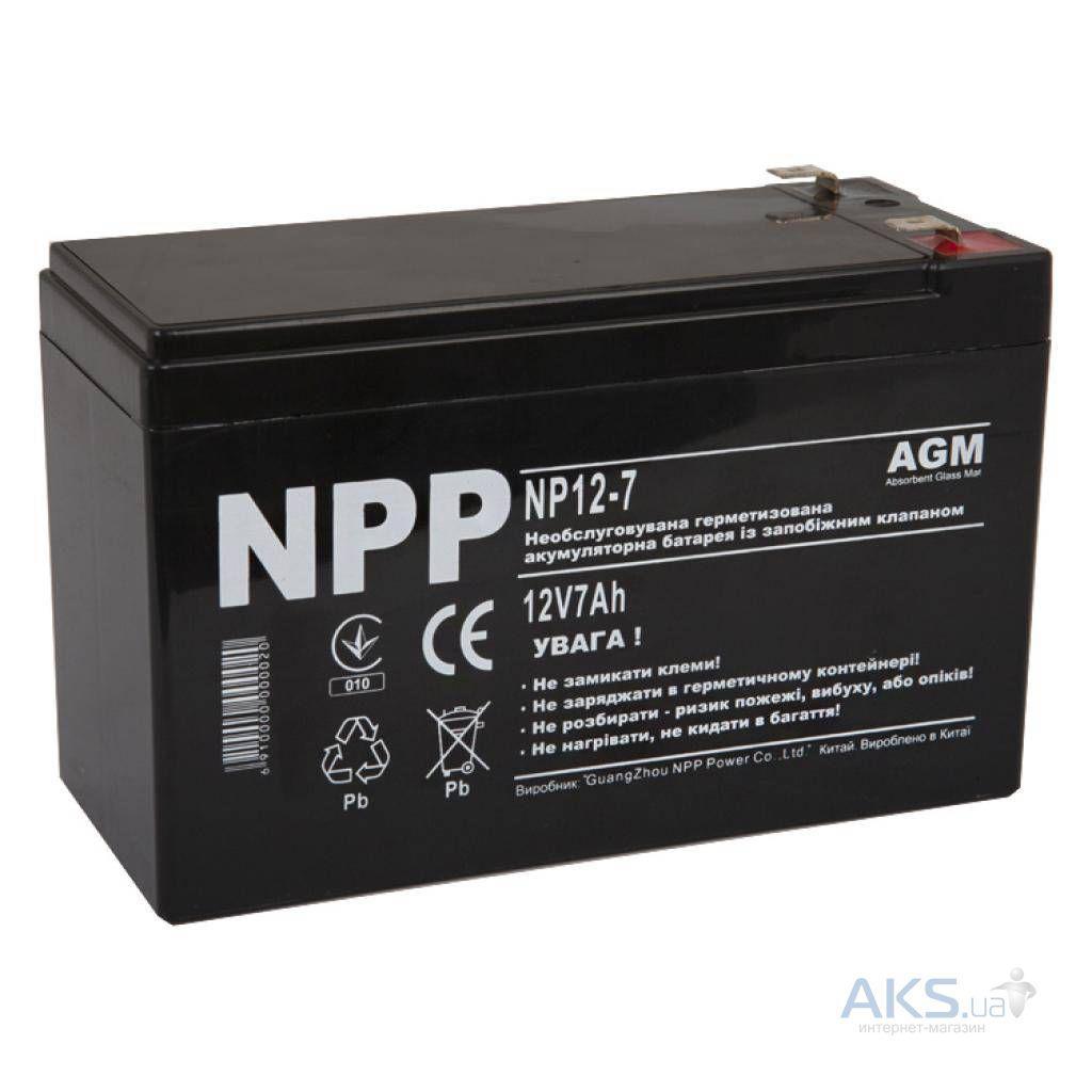 Аккумулятор для ИБП NPP 12V 7Ah (NP12-7)