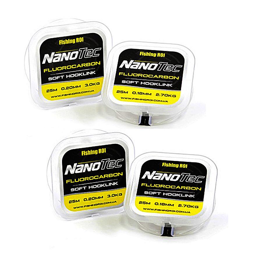 Флюорокарбон поводочный Fishing ROI Nano Tec 25м 0,20мм  3.0кг