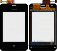 Сенсор (тачскрин) Nokia Asha 502 Dual Sim Original Black
