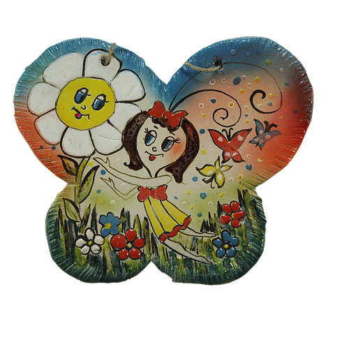 Бабочка рисованая