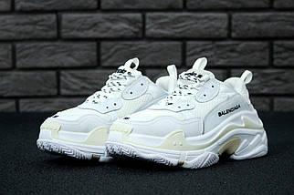 Женские и мужские кроссовки Balenciaga Triple S White/Cream, баленсиага, фото 3