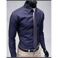 Классическая мужская рубашка в полоску, фото 1