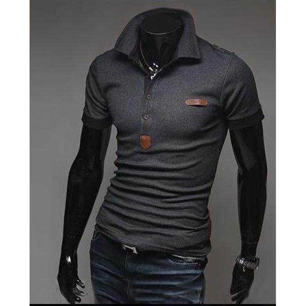 Мужская футболка с рукавом-поло, фото 1