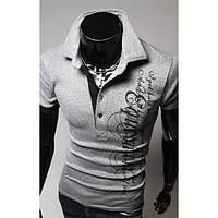 Спортивная мужская элегантная футболка c воротником-поло