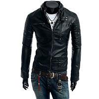 Мужская куртка искусственная кожа весна-осень, фото 1