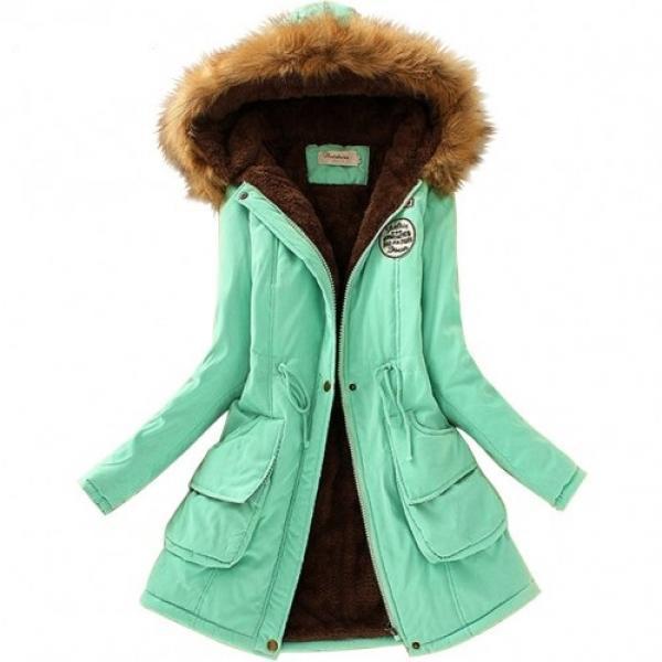 bc729ae266a4 Женская куртка парка меховой воротник - V-grupe - Интернет-магазин в Луцке