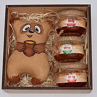 """Подарочный набор """"Винни пух"""" (набор мёда) Оригинальный подарок на день рождения. Для мужчины, ребёнка, друзей."""