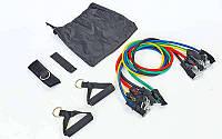 Эспандер Resistance Band многофункциональный 5 жгутов  (5 эсп,креп.на дверь, 2рукоят, 1лямка)
