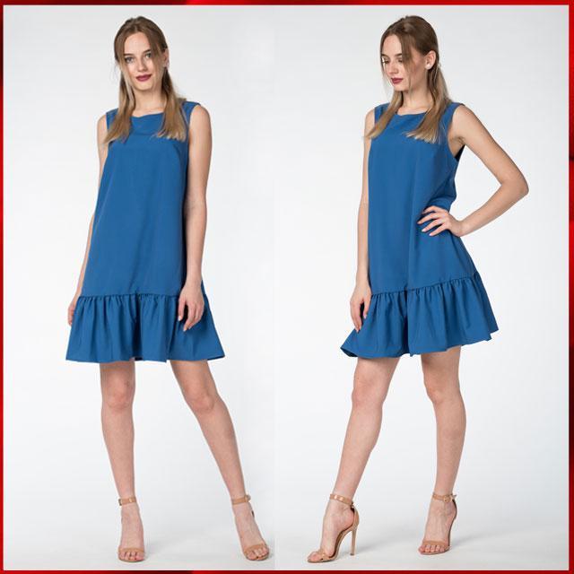 Легкое летнее платье  Молли электрик , фото 1