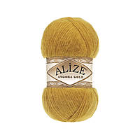 Турецкая пряжа для вязания Alize Angora Gold (ангора голд) 2 шафран