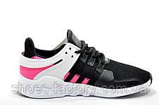 Женские кроссовки в стиле Adidas EQT Support ADV, Black\Pink, фото 3