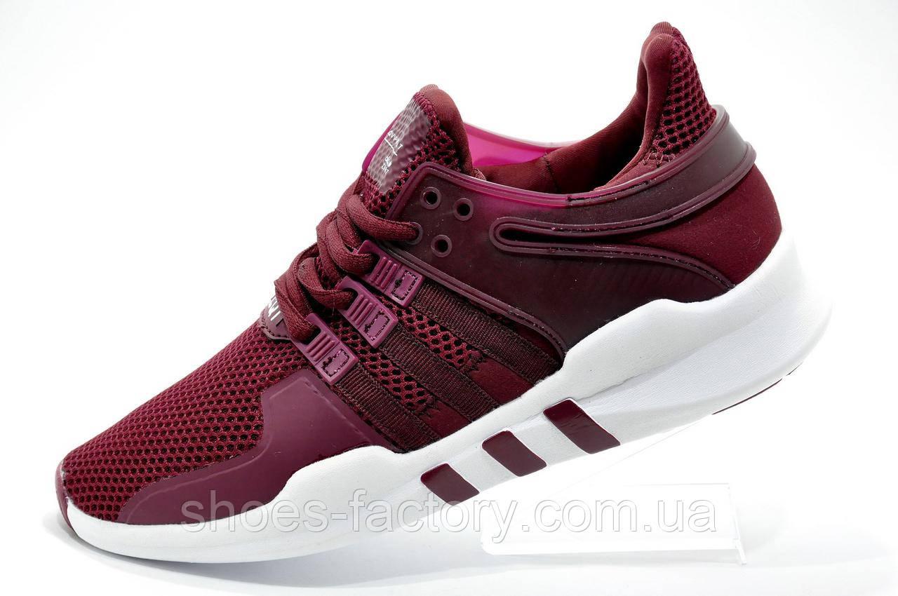 Женские кроссовки в стиле Adidas EQT Support ADV, Бордовые