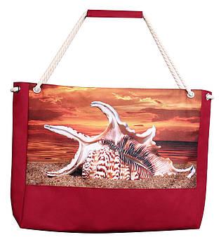 Пляжная сумка Подарок моря красная