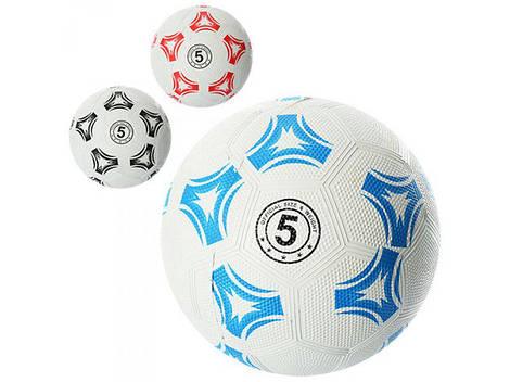 Мяч футбольный VA-0022 (30шт) размер 5, резина Grain, 350г, сетка, в кульке, 3 цвета,