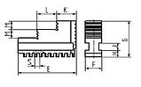 Кулачки прямые 7100-0009 шаг 10 мм, фото 2
