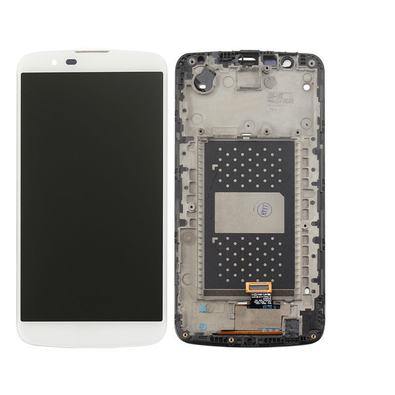 Дисплей (экран) для LG K410TV K10TV с сенсором (тачскрином) и рамкой с микросхемой белый
