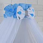 """Комплект детской постели в кроватку """"Воздушные шары голубого цвета"""" № 269, фото 2"""