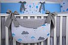 """Комплект детской постели в кроватку """"Воздушные шары голубого цвета"""" № 269, фото 3"""