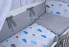 """Комплект детской постели в кроватку """"Воздушные шары голубого цвета"""" № 269, фото 5"""