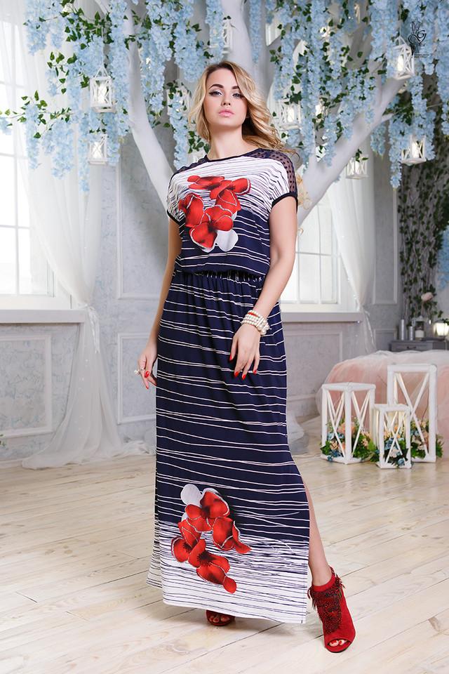 Цвет-6 Длинного ботального летнего платья Ирма